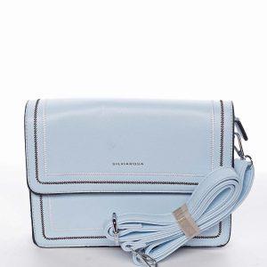 Originální elegantní crossbody kabelka nebesky modrá – Silvia Rosa Cielo modrá
