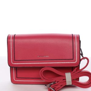 Originální elegantní crossbody kabelka fuchsiová – Silvia Rosa Cielo růžová