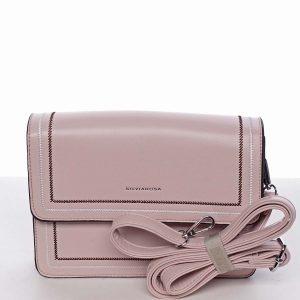 Originální elegantní crossbody kabelka světle růžová – Silvia Rosa Cielo růžová