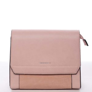 Elegantní pevná dámská crossbody kabelka růžová – Silvia Rosa Molly růžová