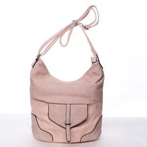 Elegantní dámská kabelka přes rameno růžová – Silvia Rosa Yahaira růžová
