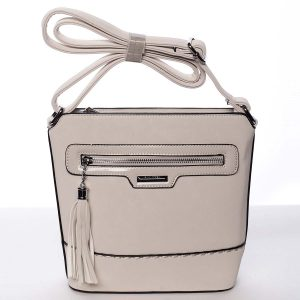 Elegantní dámská béžová crossbody kabelka – Silvia Rosa Meylin béžová