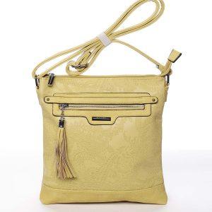 Módní dámská žlutá crossbody kabelka se vzorem – Silvia Rosa Gillian žlutá