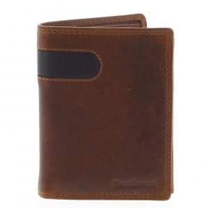 Pánská kožená peněženka hnědá – SendiDesign Parah hnědá