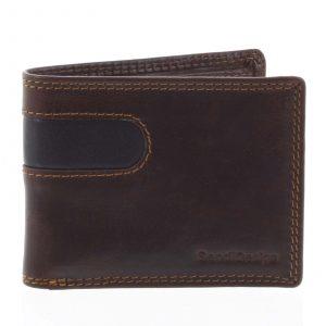 Pánská kožená peněženka na karty hnědá – SendiDesign Sinai hnědá