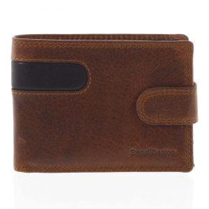 Nejprodávanější pánská kožená peněženka hnědá – SendiDesign Tarsus hnědá