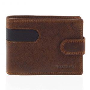 Oblíbená pánská kožená peněženka hnědá – SendiDesign Igeal hnědá