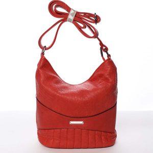 Malá prošívaná červená crossbody kabelka – Silvia Rosa Anjali červená