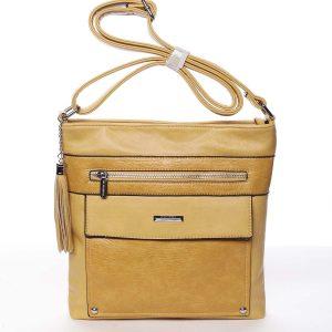 Módní narcisově žlutá dámská crossbody kabelka – Silvia Rosa Areli žlutá