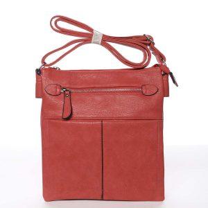 Dámská červená moderní a elegantní crossbody kabelka – Dudlin Ketty červená
