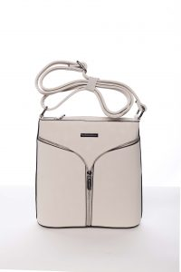 Béžová elegantní dámská crossbody kabelka – Silvia Rosa Shadia béžová