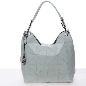 Velká mentolově zelená luxusní dámská kabelka přes rameno – MARIA C Samira mentolová