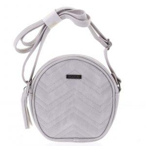 Malá trendy crossbody kabelka světle šedá – Beagles Mana šedá