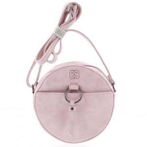 Kulatá moderní dámská crossbody kabelka růžová – Enrico Benetti Behesha růžová