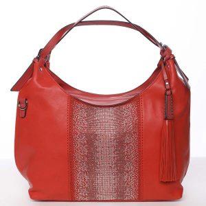 Luxusní červená dámská kabelka přes rameno – Maria C Parisa červená