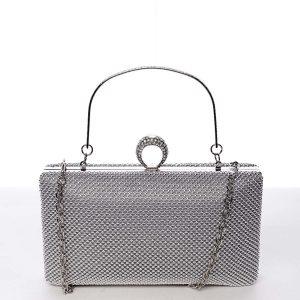 Originální dámské perleťové psaníčko stříbrné – Delami V4900 stříbrná