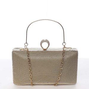 Originální dámské perleťové psaníčko zlaté – Delami V4900 zlatá