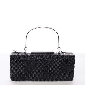 Módní dámské perleťové psaníčko černé – Michelle Moon V8200 černá