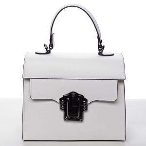 Exkluzivní módní dámská kožená kabelka bílá – ItalY Bianka bílá