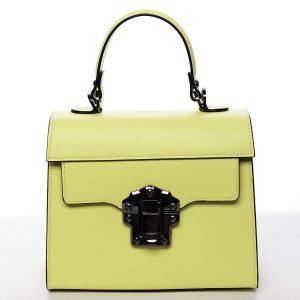 Exkluzivní módní dámská kožená kabelka žlutá – ItalY Bianka žlutá