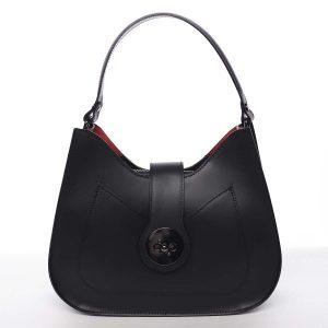 Luxusní dámská kožená kabelka černá – ItalY Fatima černá
