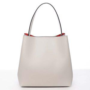 Dámská luxusní kožená kabelka béžová – ItalY Hania béžová