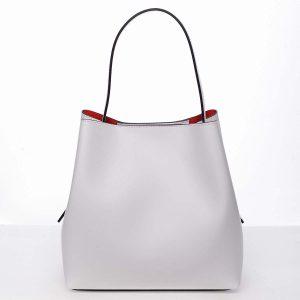 Dámská luxusní kožená kabelka bílá – ItalY Hania bílá