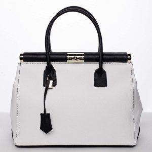 Módní originální dámská kožená kabelka do ruky bílá – ItalY Hila bílá