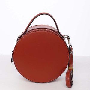 Malá červená elegantní dámská kožená kabelka – ItalY Husna červená