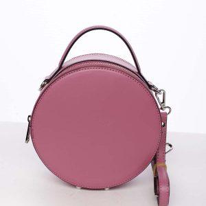 Malá fuchsiová elegantní dámská kožená kabelka – ItalY Husna růžová
