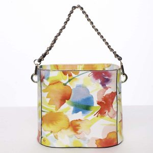 Originální dámská kožená kabelka se vzorem žlutá – ItalY Marwa žlutá
