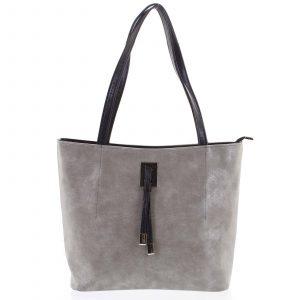 Velká béžová vzorovaná dámská kabelka přes rameno – Ellis Huyen béžová