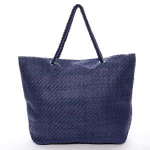 Luxusní plážová taška modrá – Delami Straw modrá