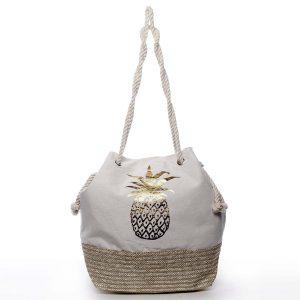 Originální plážová taška béžová – Delami Phaana béžová