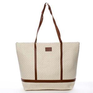 Béžová plážová taška – Delami Inogy béžová