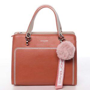 Dámská kabelka do ruky růžově oranžová – David Jones Adalgisa oranžová