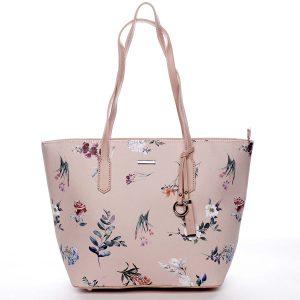 Elegantní dámská kabelka přes rameno růžová – David Jones Rosaline růžová