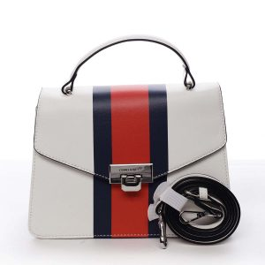Exkluzivní menší dámská kabelka do ruky bílá – David Jones Shabana bílá