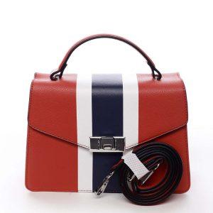 Exkluzivní menší dámská kabelka do ruky červená – David Jones Shabana červená