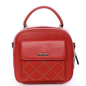 Luxusní malá dámská kabelka do ruky červená – David Jones Stela červená