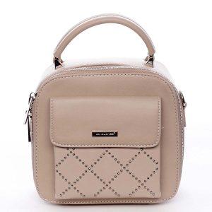 Luxusní malá dámská kabelka do ruky světle růžová – David Jones Stela růžová