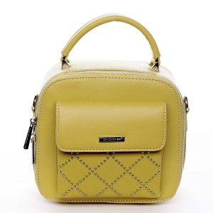 Luxusní malá dámská kabelka do ruky žlutá – David Jones Stela žlutá