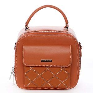 Luxusní malá dámská kabelka do ruky oranžová – David Jones Stela oranžová