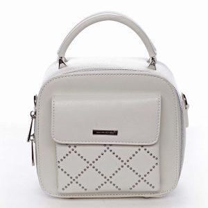 Luxusní malá dámská kabelka do ruky bílá – David Jones Stela bílá