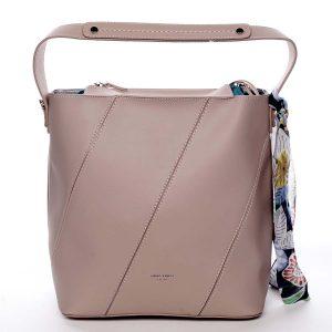Elegantní dámská kabelka přes rameno růžová – David Jones Abena růžová