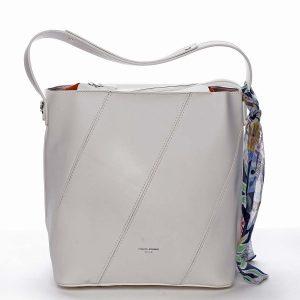 Elegantní dámská kabelka přes rameno bílá – David Jones Abena bílá
