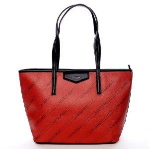 Velká červená moderní kabelka přes rameno – David Jones Abisag červená