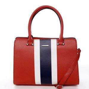 Exkluzivní dámská kabelka do ruky červená – David Jones Shabanax červená