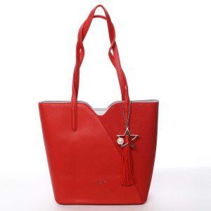 Dámská kabelka přes rameno červená – David Jones Afsaneh červená