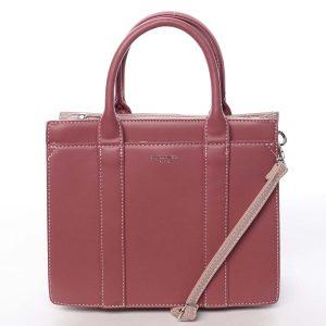 Malá dámská kabelka do ruky tmavě růžová – David Jones Akiba růžová